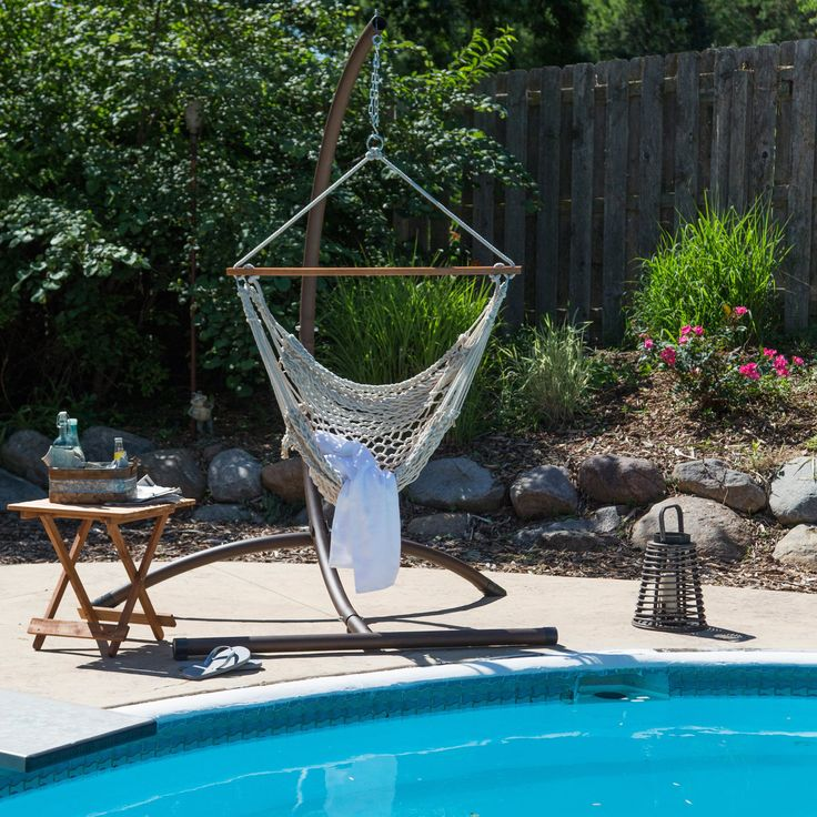 Have to have it. Island Bay Rope Hammock Chair - $49.98 @hayneedle