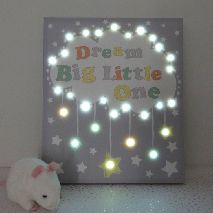 'Dream Big' LED Canvas And Night Light