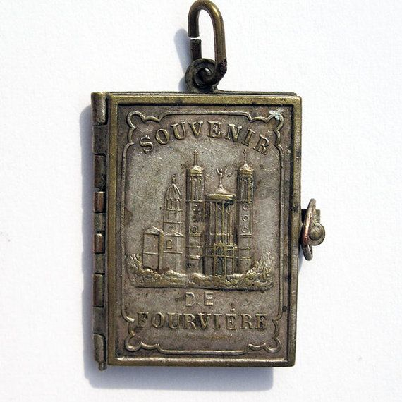 124 best photo book lockets images on pinterest antique french notre dame de fourviere souvenir book locket by thedevoted aloadofball Gallery