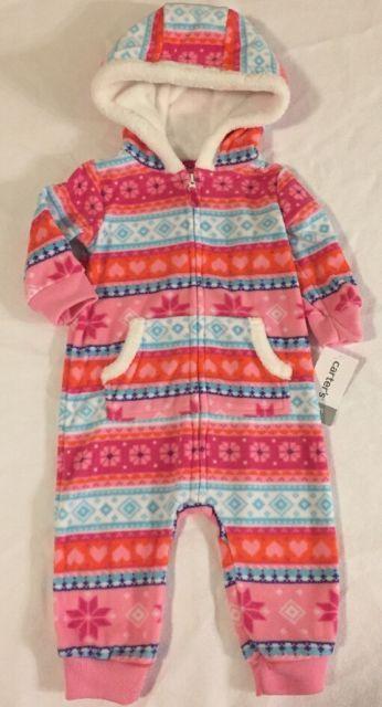 Carters Baby Girls Footless Pajamas, 6mo., NWT! | eBay