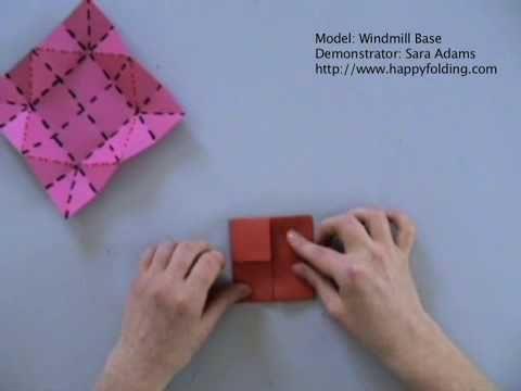 Windmill Base: Instructions   Happy Folding