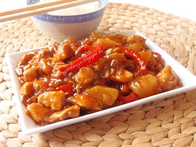 Kínai édes-savanyú csirke