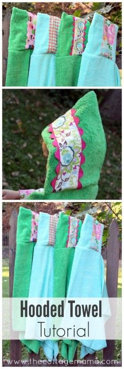 Embellished Hooded Towel Tutorial - The Cottage Mama. www.thecottagemama.com