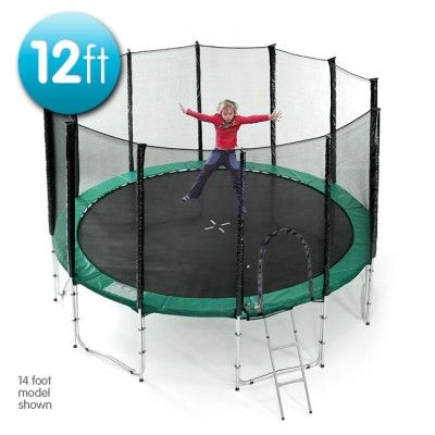 12 ft Springless trampoline with net $285 + $83