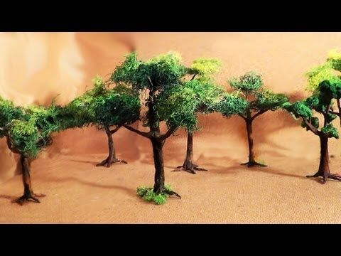 Diorama (parte 2) Árvores - Miniature (part 2) Trees - YouTube