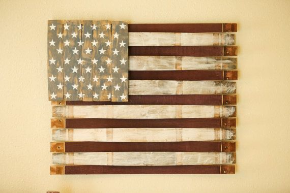 American Flag  Wood Wall Hang  Wooden American Flag by Martellas
