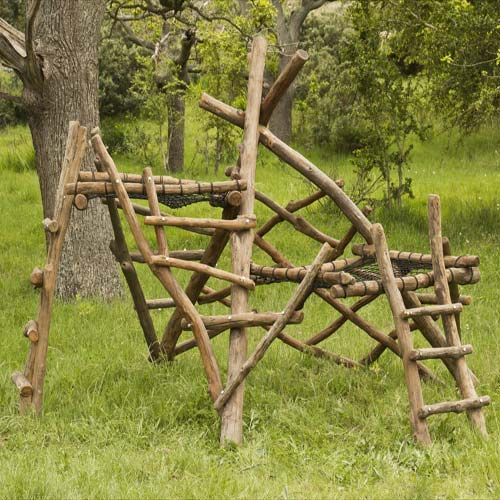This company makes THE best climbing frame designs I ve ever seen. Was the inspiration for a small structure we made for the kids out of our neighbour s cut trees