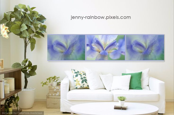 ETHEREAL LIFE OF IRIS. TRIPTYCH. INTERIOR IDEAS by JENNY RAINBOW. Available in the Big Panoramic size: 108.000 inch x25.000 inch This series created especially for the interiors in very wide variety of color shades to meet any of your request. I invite you to visit the gallery ETHEREAL LIFE.ABSTRACT to find exact shades for enrich your interior and make it special. #JennyRainbowFineArtPhotography #HomeDecor #ArtForHome #AbstractArt #FloralDecor