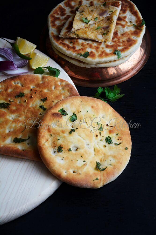Amritsari Aloo Kulcha - Binjal's VEG Kitchen