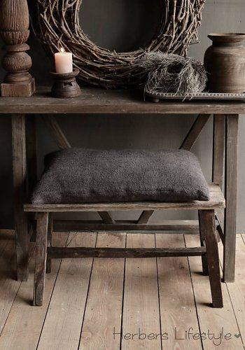 Oud houten Bankje 80cm