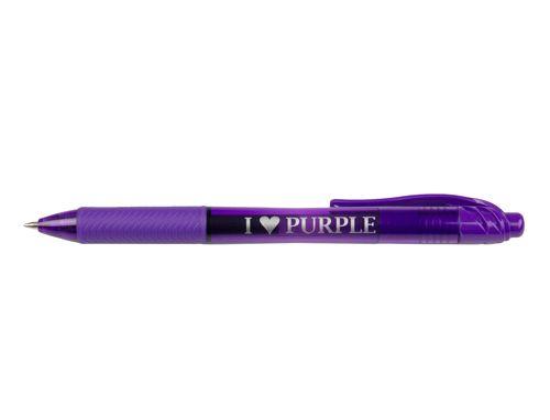 """""""I Heart Purple"""" Purple Pen with Purple Ink, Gel Pens from The Purple Store!"""