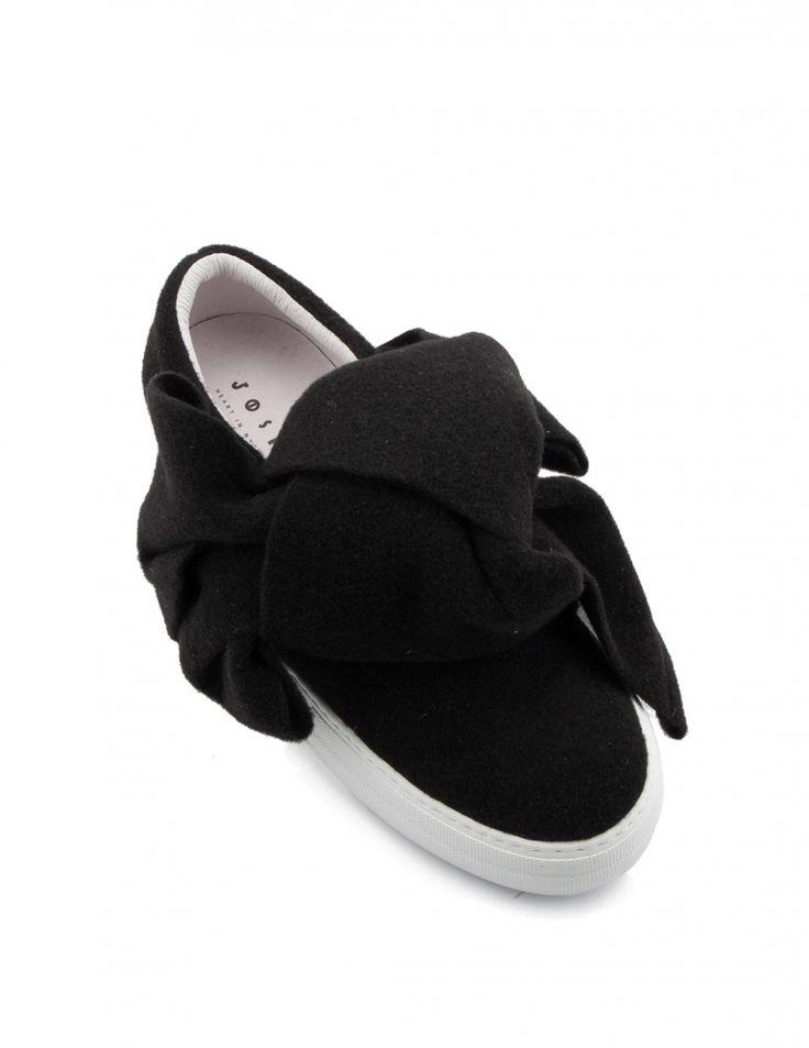 Joshua Sanders Sneakers slip on in feltro con fiocco