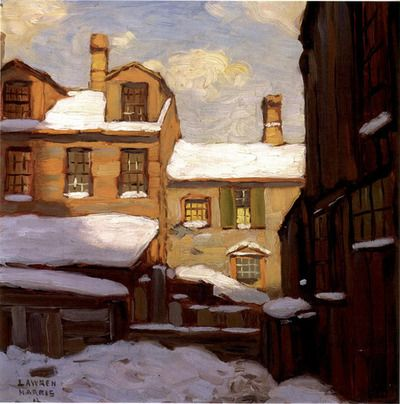 Lawren Harris: Old Houses (1912) Group of Seven, Canada
