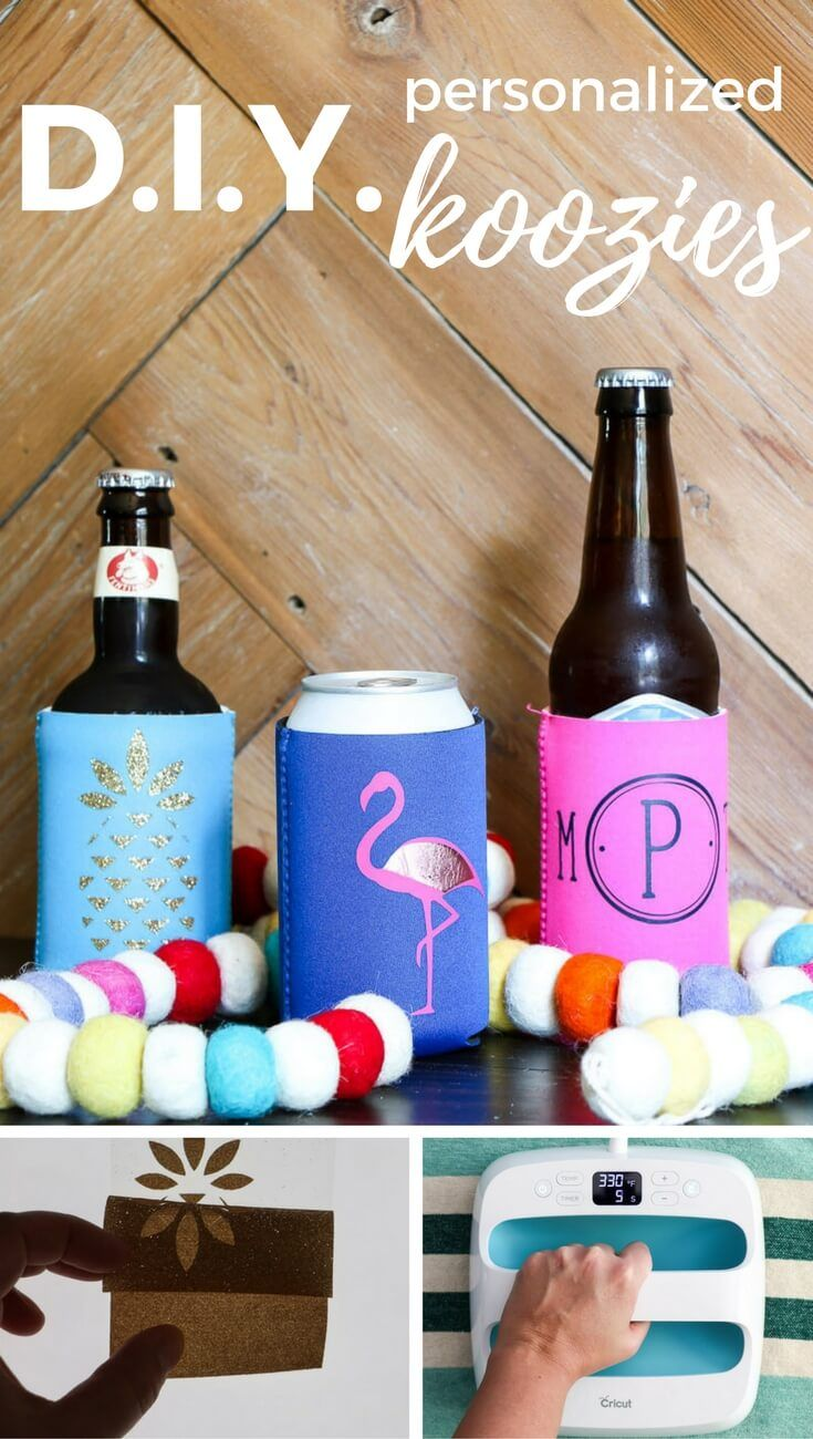 Diy Personalized Koozies Crafts For Me Creative Crafts Diy