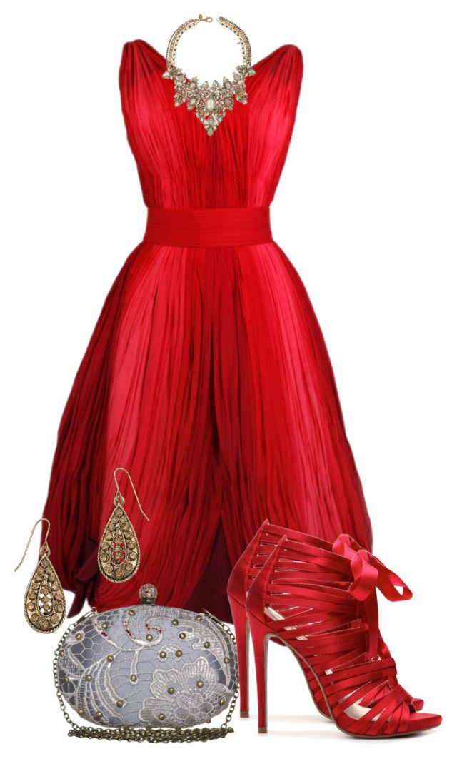 Vision in Red by jodilambdin on Polyvore featuring polyvore fashion style Zigi Soho Darling Accessorize Erickson Beamon clothing