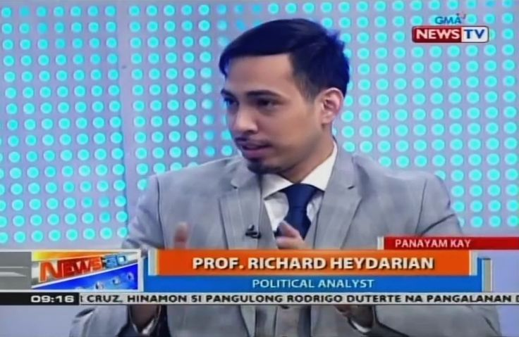 Prof. Richard Heydarian on the Philippines Arbitration Case against China with GMA News - http://www.dutertenewstoday.com/prof-richard-heydarian-on-the-philippines-arbitration-case-against-china-with-gma-news/