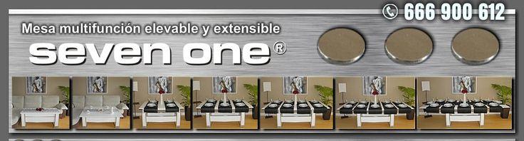Mesa elevable y extensible perfecta para viviendas pequeñas.Hasta 12 comensales.Mesa SEVENONE. Tlf 666900612 Mas información en www.sevenone.es Enlace video: https://www.youtube.com/watch?v=Jr5HqP_0Q84