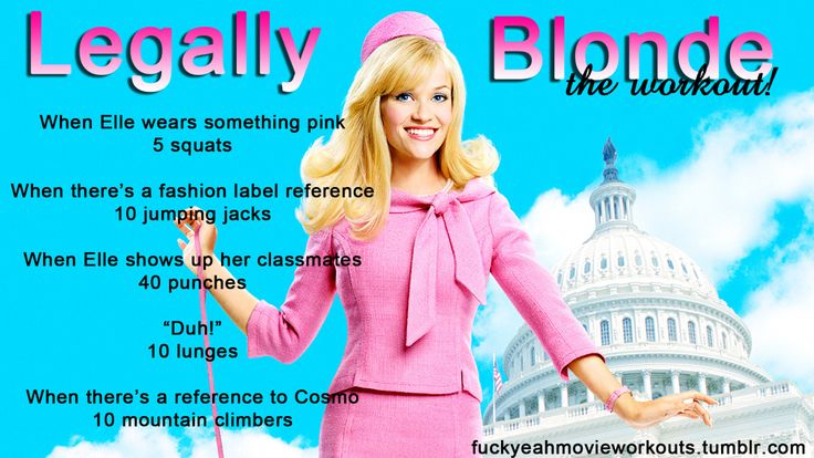 Legally Blonde…the workout! Want to see more workouts like this one? Follow us here!
