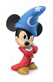 DISNEY INFINITY CHARACTERS: Sorcerer's Apprentice Mickey Sorcerer's Apprentice Mickey is a collectable figure based on his character from the Fantasia movie and a game piece for Disney Infinity game. Mickey is a good combatant and only available in the Toy Boxes.  http://awsomegadgetsandtoysforgirlsandboys.com/disney-infinity-characters/ DISNEY INFINITY CHARACTERS: Sorcerer's Apprentice Mickey