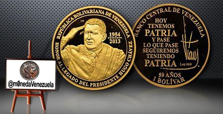 Moneda Conmemorativa en Honor al Legado del Presidente Hugo Chávez  Lee el artículo completo AQUI: Moneda Conmemorativa en Honor al Legado del Presidente Hugo Chávez  Monedas de Oro y Plata conmemorativas en Honor al Legado del Presidente Hugo Chávez Por. Víctor Torrealba Después de mucha especulación al respecto el Banco Central de Venezuela mediante su boletín Al día con el BCV Número 297 de fecha jueves 25 de septiembre de 2014 anuncia oficialmente la acuñación de monedas de oro y plata…