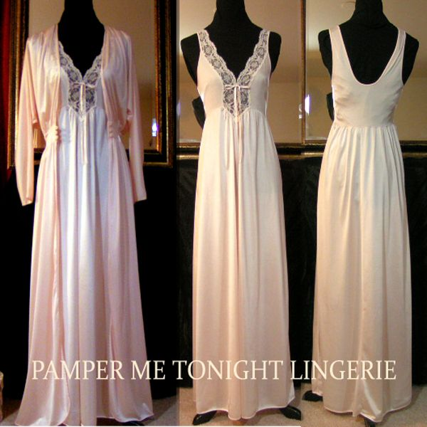 95a06f39c olga nightgowns | Details about VTG Pink Long NYLON OLGA Negligee Nightgown  Gown ... | Olga Nightgowns - Mom's Designs | Night gown, Gowns, Prom dresses