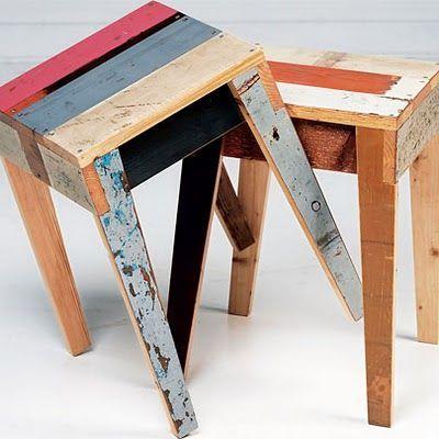 Bancos reutilize madeira