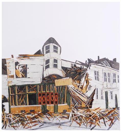 """The Fall of Realism"" Detalle Madera y grafito sobre papel 73 x 59 x 6 cm. 2014 #art #artist #sergiozapata #arteplastico"