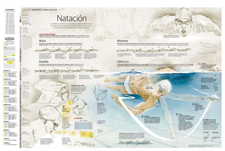 Natación #infografia #infographic