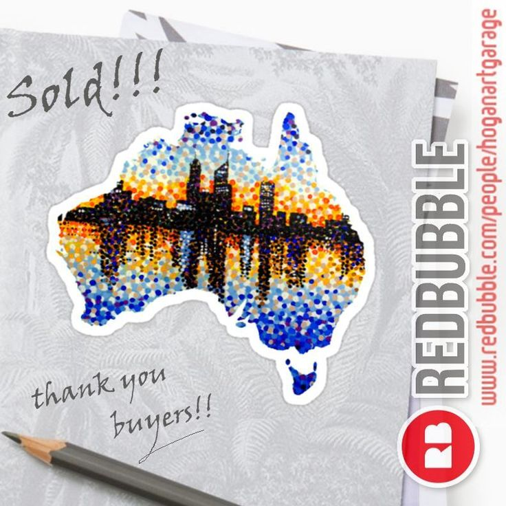 Sold!! ..thanks to the good people in Lancashire UK and Indiana USA who recently bought this 'Perth City Sunrise' sticker design from my @redbubble  webstore!! #sold #thankyou #redbubblestickers #westernaustraliaday #WAday #perth #gday #westernaustralia #oz #instaoz #instaperth #instaaustralia #instasticker #downunder #wa #australia #visitperth #creative #designer  #art #instaart #artist #artistsofinstagram #instalike #instalikes #konst #konstnär #artistlife #artlife #supportart