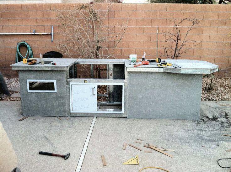 diy built in grill island Paradise Builders Custom Built