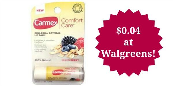 Walgreens: Carmex Lip Balm Only $0.04!