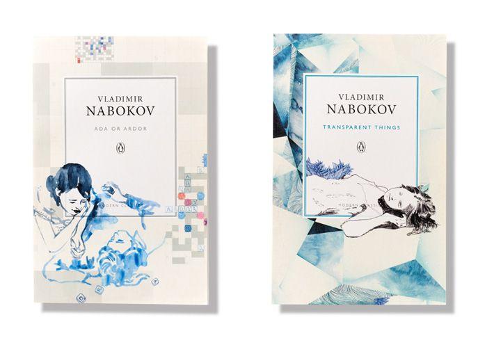 Book covers for Penguin's Vladimir Nabokov series.