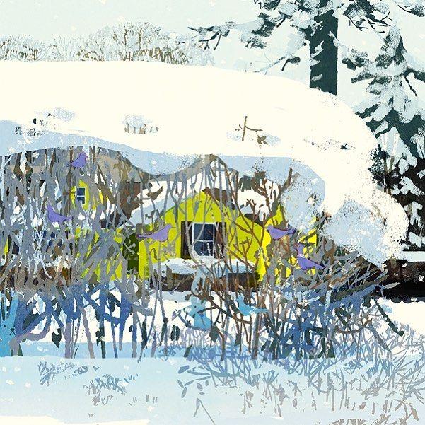 Let your winter garden go wild. The New York Times Sunday Review. #illustration #painting #tatsurokiuchi #art #drawing #life #lifestyle #happy #japan #people #木内達朗 #イラスト #イラストレーション #bird #winter #garden #nashville