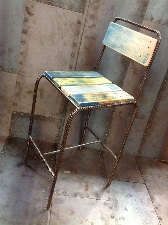 Hey, I found this really awesome Etsy listing at https://www.etsy.com/listing/213205519/rebar-bar-stool
