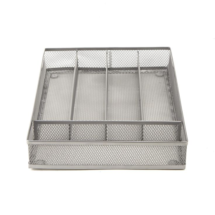 Mindreader Mind Reader 5 Section Cutlery Tray Drawer Organizer (2 Pack) (Silver) (Metal)