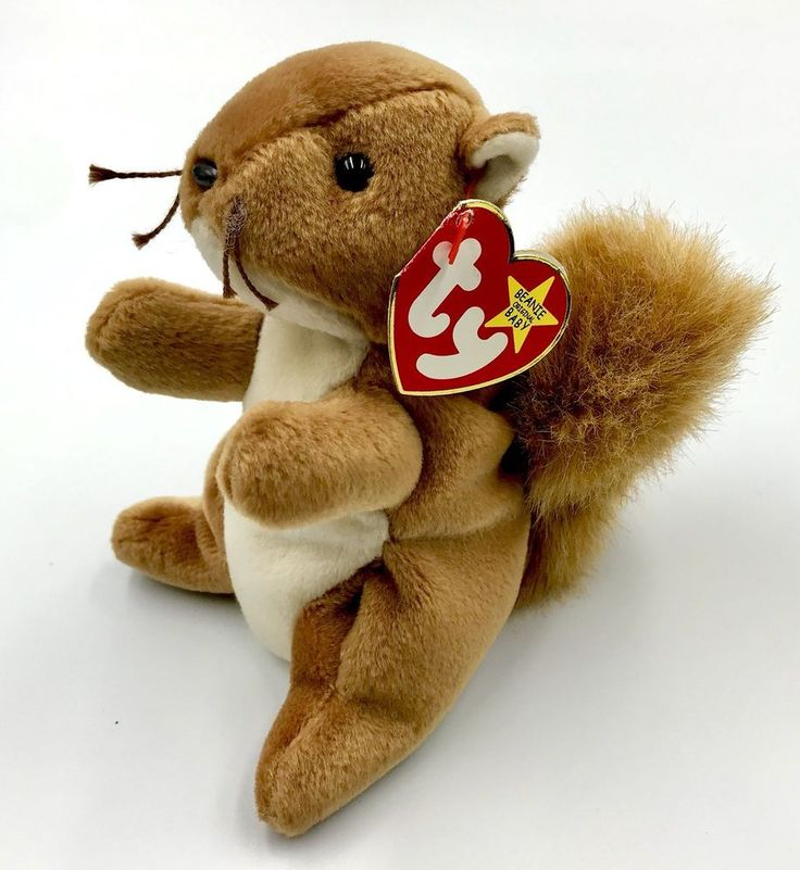 Ty Beanie babies Original 1996 nuts the squirrel teddy plush soft toy teddy gift