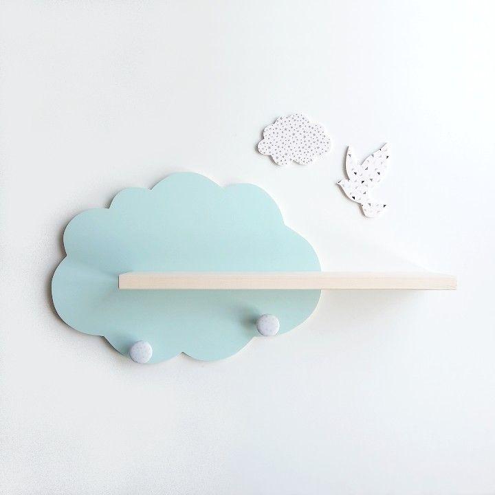 Etag re murale en forme nuage id ale pour compl ter la d co de la chambre de b b b b en 2019 - Temperature ideale pour chambre bebe ...