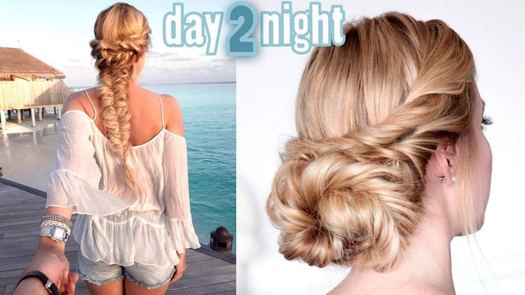 Day to Night hairstyles ★ Boho chic braid ★ Soft updo for medium/long ha...
