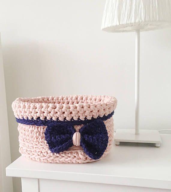 Crochet Basket / Crochet Storage / Nursery Decor / Crochet
