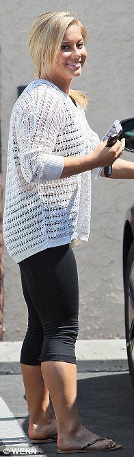 Ready to compete: Shawn Johnson, Giles Marini and Apolo Ohno were seen leaving rehearsals for DWTS yesterday