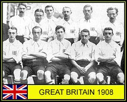 Great Britain team group for the 1908 Olympic Games.
