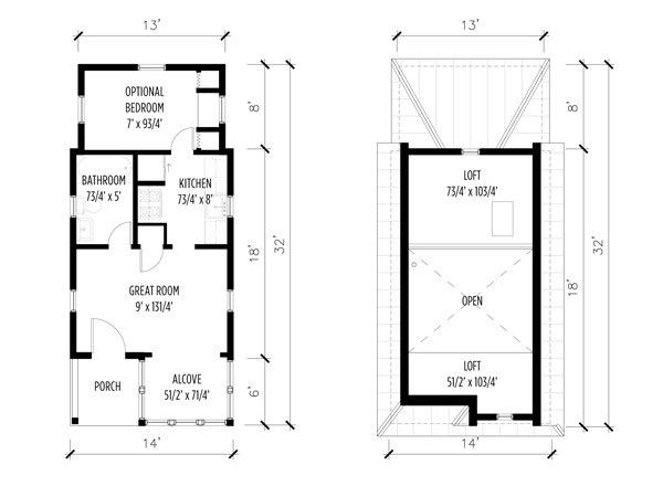 1000 images about tiny floor plans on pinterest small for 7x12 kitchen ideas