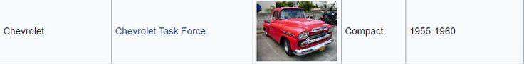 Chevrolet Task Force 1955-1960