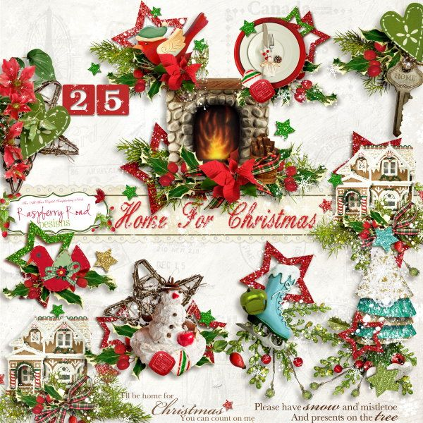 A fun Christmas themed scrapbook collection from Raspberry Road.