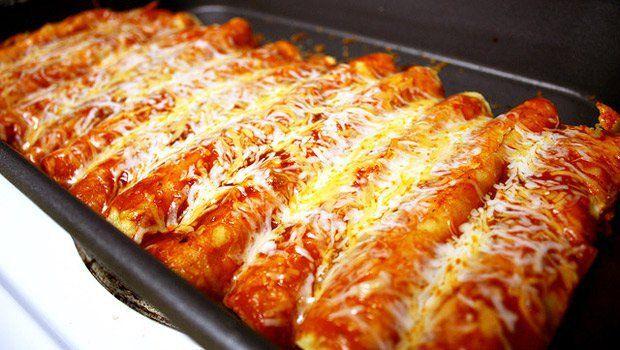21 Day Fix Approved Chicken Enchiladas  (Homemade Sauce)