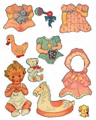 Bonecas de Papel: vintage: Aankleedpopjes Paper Dolls, Vintage Paper, Baby Paperdoll, Paper Fun, Paper Dolls Baby, Babyshow1021 06 Jpg 403 500, Baby Vintage