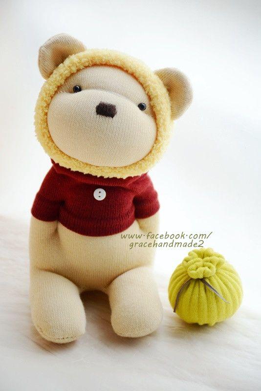Grace--#366 sock Honey Bear (yellow)
