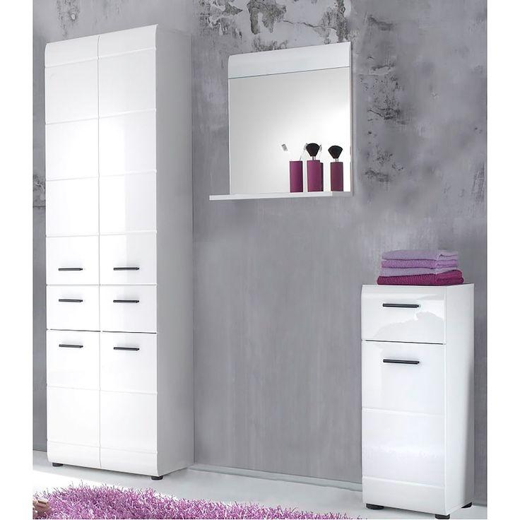 schöne badezimmer   badezimmer set weiß   badschrank grau ...