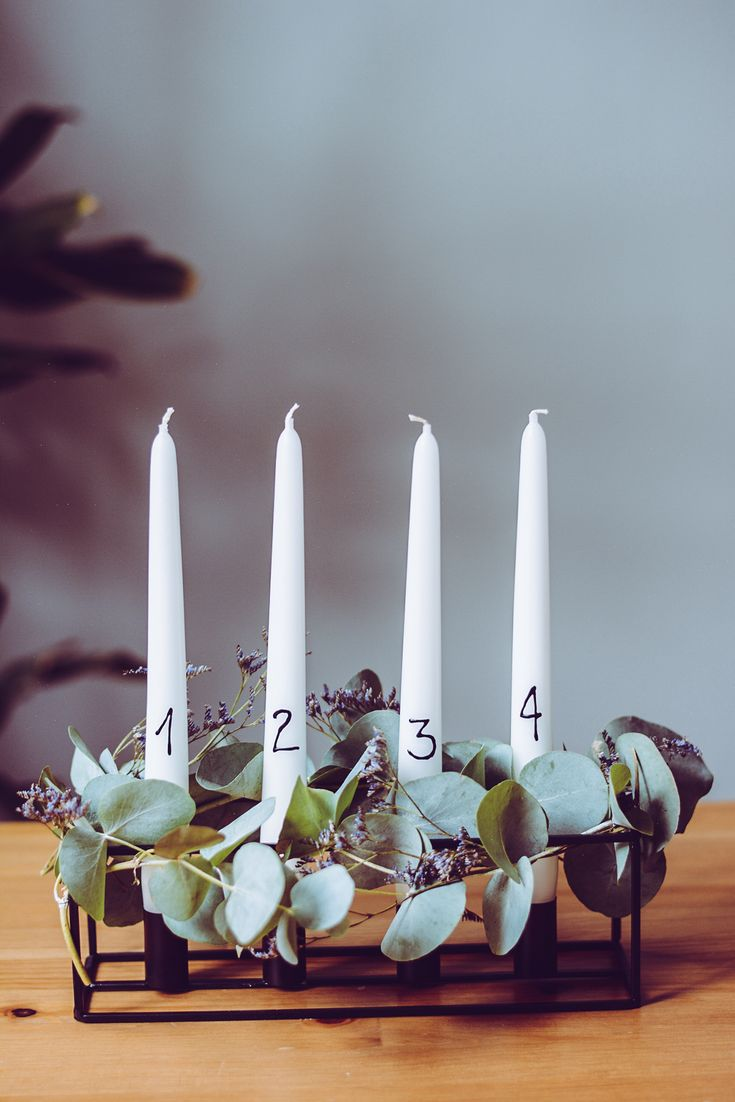 Pixi mit Milch | DIY: Minimalistischer Adventskranz mit Eukalyptus | Advent wreath scandi style. | http://piximitmilch.at