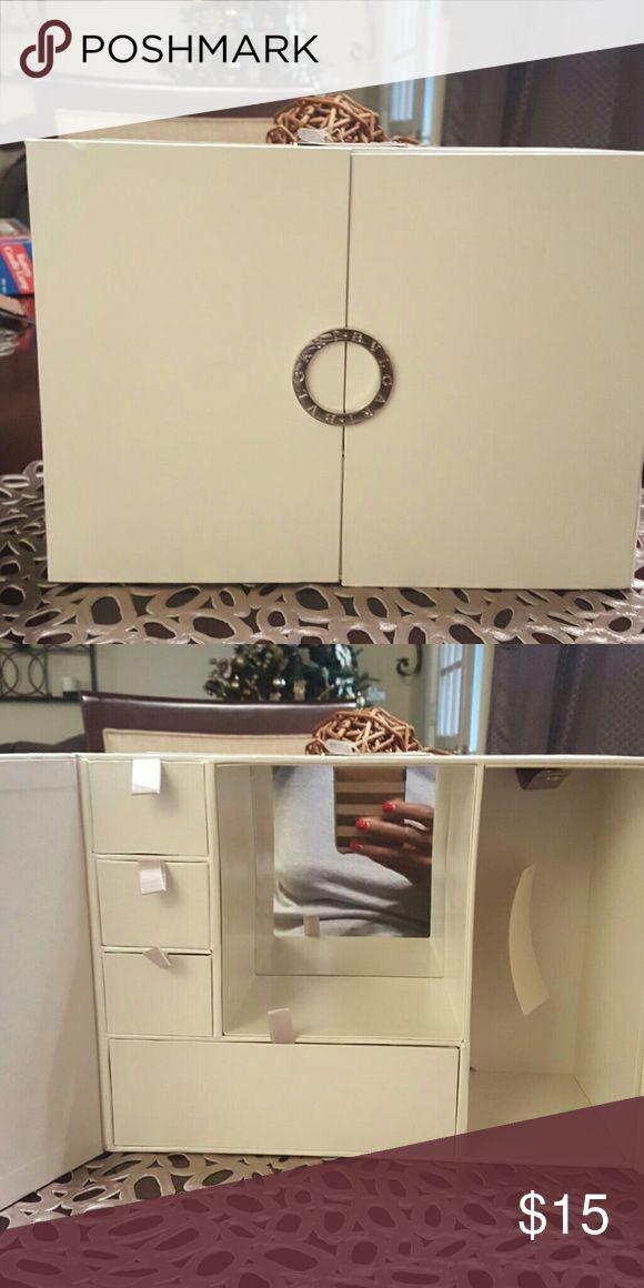 Bvlgari Jewelry Box Brand New White Jewelry Box with magnetic latch 4 drawers and mirror bvlgari Other